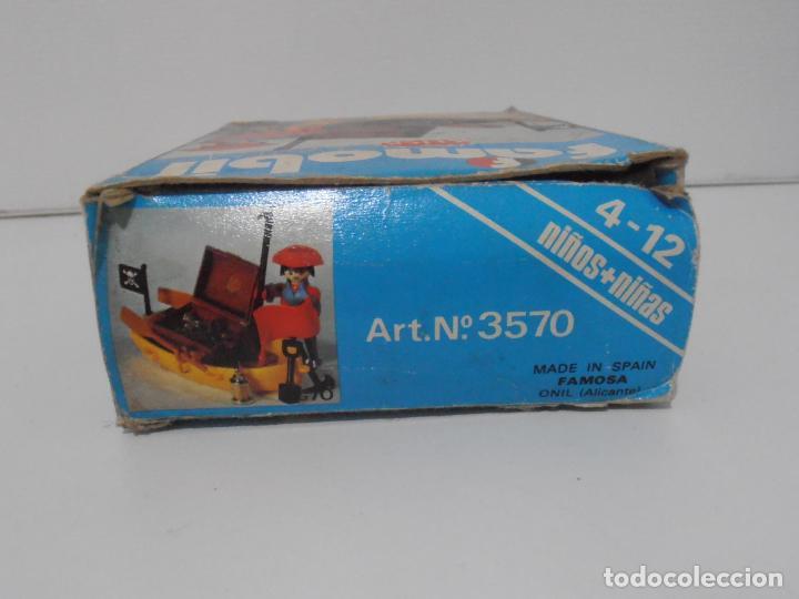 Playmobil: PIRATA CON BARCA, FAMOBIL, REF 3570, CAJA ORIGINAL, COMPLETO - Foto 7 - 215746761