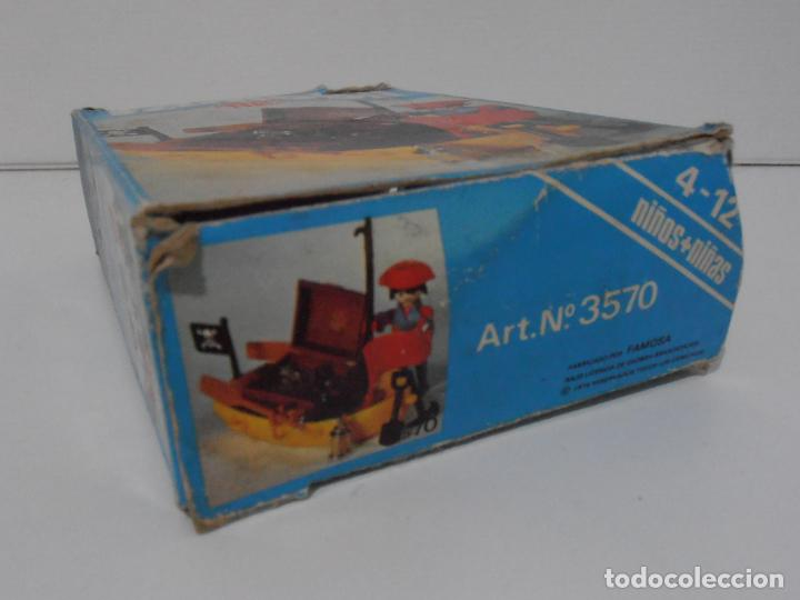 Playmobil: PIRATA CON BARCA, FAMOBIL, REF 3570, CAJA ORIGINAL, COMPLETO - Foto 9 - 215746761