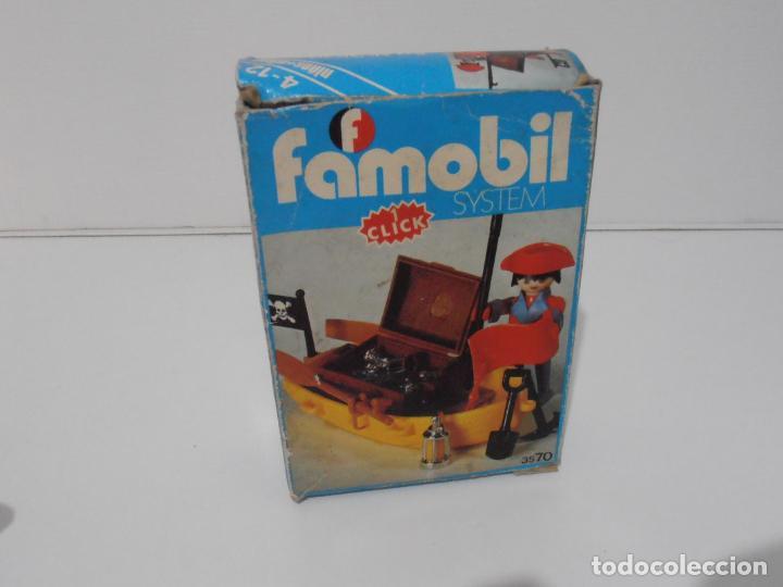 Playmobil: PIRATA CON BARCA, FAMOBIL, REF 3570, CAJA ORIGINAL, COMPLETO - Foto 11 - 215746761