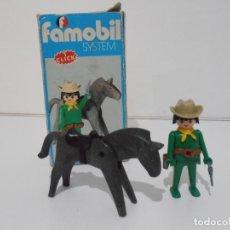 Playmobil: VAQUERO CON CABALLO OESTE, FAMOBIL, REF 3342, CAJA ORIGINAL, COMPLETO. Lote 215748311