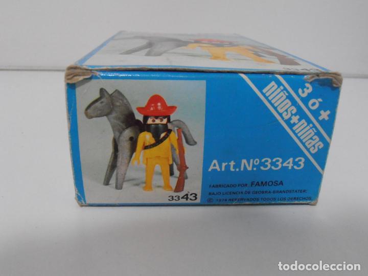 Playmobil: MEXICANO CON CABALLO, FAMOBIL, REF 3343, CAJA ORIGINAL, COMPLETO - Foto 4 - 215748645