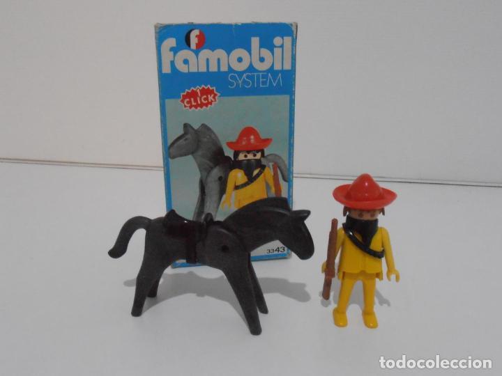 MEXICANO CON CABALLO, FAMOBIL, REF 3343, CAJA ORIGINAL, COMPLETO (Juguetes - Playmobil)