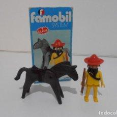Playmobil: MEXICANO CON CABALLO, FAMOBIL, REF 3343, CAJA ORIGINAL, COMPLETO. Lote 215748645