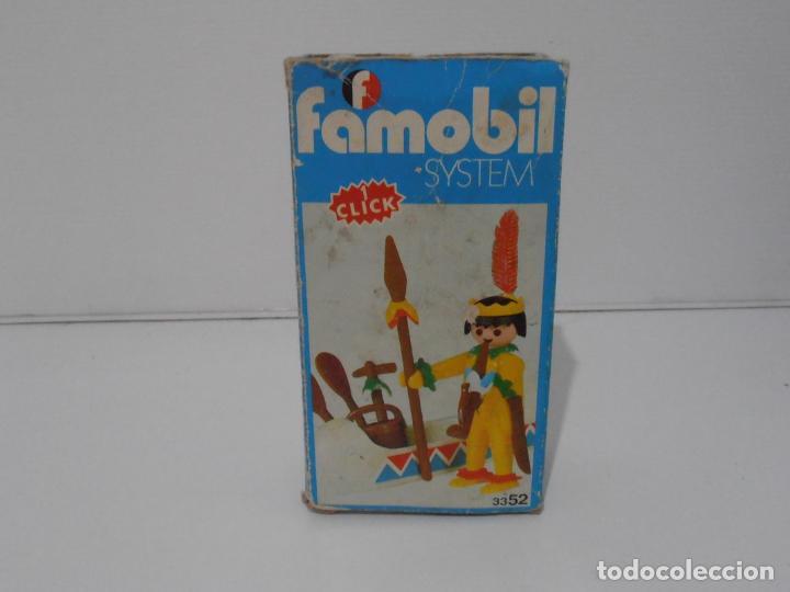Playmobil: INDIO CON CANOA, FAMOBIL, REF 3352, CAJA ORIGINAL, COMPLETO - Foto 2 - 215748971