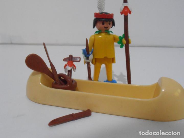 Playmobil: INDIO CON CANOA, FAMOBIL, REF 3352, CAJA ORIGINAL, COMPLETO - Foto 4 - 215748971