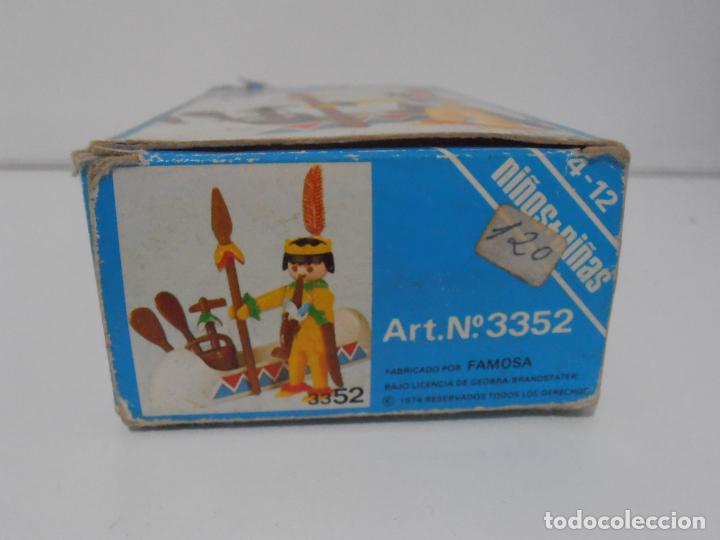 Playmobil: INDIO CON CANOA, FAMOBIL, REF 3352, CAJA ORIGINAL, COMPLETO - Foto 5 - 215748971