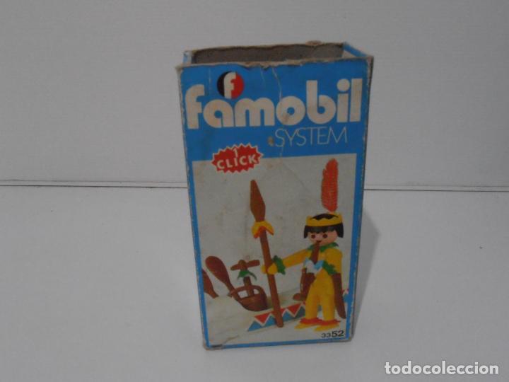 Playmobil: INDIO CON CANOA, FAMOBIL, REF 3352, CAJA ORIGINAL, COMPLETO - Foto 9 - 215748971