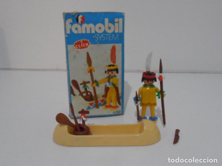 INDIO CON CANOA, FAMOBIL, REF 3352, CAJA ORIGINAL, COMPLETO (Juguetes - Playmobil)