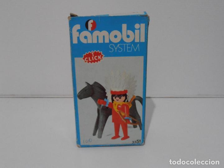 Playmobil: INDIO CON CABALLO, FAMOBIL, REF 3351, CAJA ORIGINAL, COMPLETO - Foto 2 - 215749662
