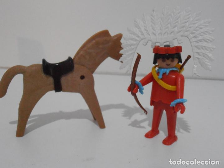 Playmobil: INDIO CON CABALLO, FAMOBIL, REF 3351, CAJA ORIGINAL, COMPLETO - Foto 3 - 215749662
