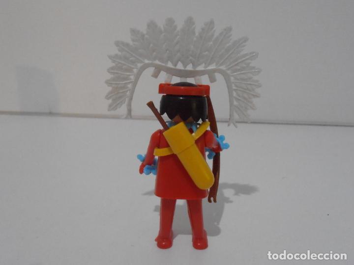 Playmobil: INDIO CON CABALLO, FAMOBIL, REF 3351, CAJA ORIGINAL, COMPLETO - Foto 4 - 215749662