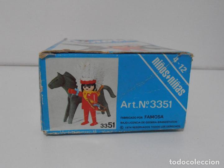 Playmobil: INDIO CON CABALLO, FAMOBIL, REF 3351, CAJA ORIGINAL, COMPLETO - Foto 5 - 215749662