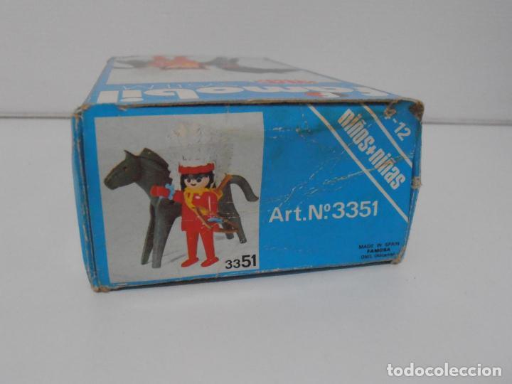 Playmobil: INDIO CON CABALLO, FAMOBIL, REF 3351, CAJA ORIGINAL, COMPLETO - Foto 7 - 215749662