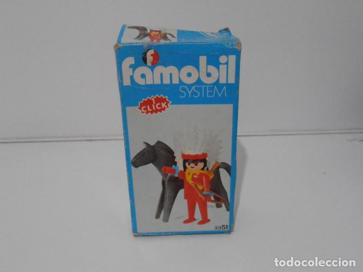 Playmobil: INDIO CON CABALLO, FAMOBIL, REF 3351, CAJA ORIGINAL, COMPLETO - Foto 9 - 215749662
