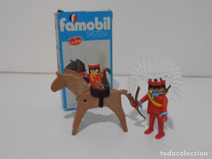 INDIO CON CABALLO, FAMOBIL, REF 3351, CAJA ORIGINAL, COMPLETO (Juguetes - Playmobil)