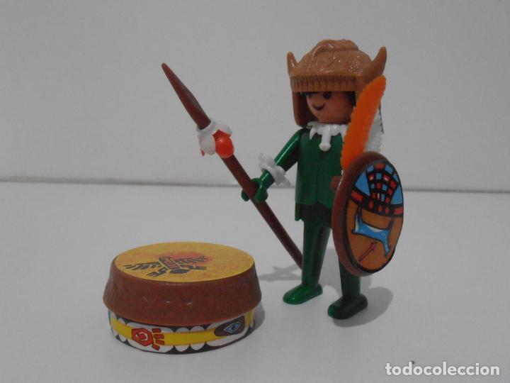 Playmobil: INDIO CON TAMBOR, PLAYMOBIL, REF 3903, CAJA ORIGINAL, CASI COMPLETO - Foto 3 - 215750457