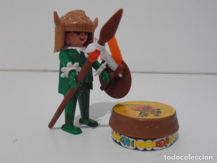 Playmobil: INDIO CON TAMBOR, PLAYMOBIL, REF 3903, CAJA ORIGINAL, CASI COMPLETO - Foto 4 - 215750457