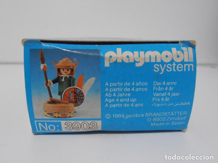 Playmobil: INDIO CON TAMBOR, PLAYMOBIL, REF 3903, CAJA ORIGINAL, CASI COMPLETO - Foto 5 - 215750457