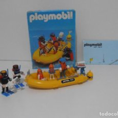 Playmobil: LANCHA SUBMARINISTA BUZOS, PLAYMOBIL, REF 3479, CAJA ORIGINAL, CASI COMPLETO. Lote 215812172