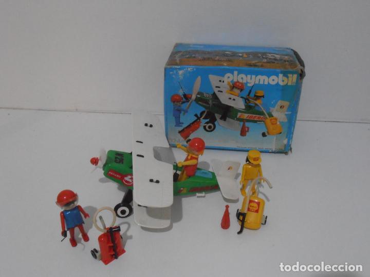 Playmobil: AVIONETA, FAMOBIL, REF 3246, CAJA ORIGINAL, COMPLETO SOLO FALTA PAÑOLETA CUELLO - Foto 2 - 215812996