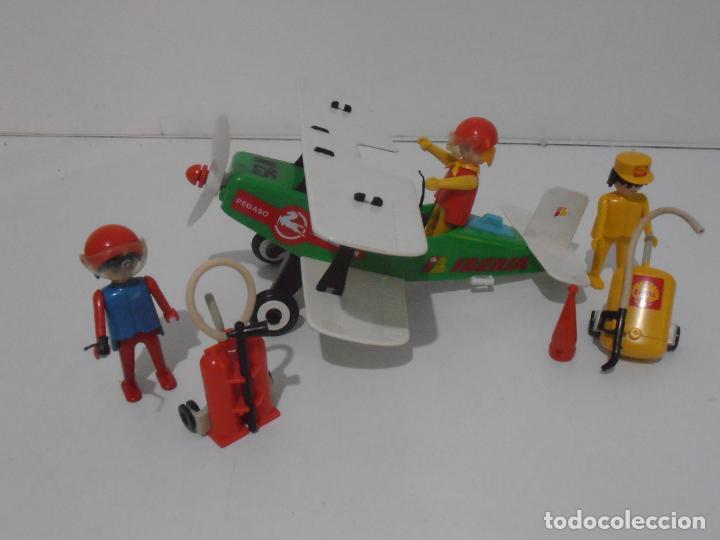 Playmobil: AVIONETA, FAMOBIL, REF 3246, CAJA ORIGINAL, COMPLETO SOLO FALTA PAÑOLETA CUELLO - Foto 3 - 215812996
