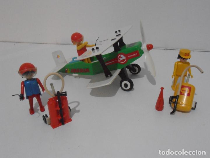 Playmobil: AVIONETA, FAMOBIL, REF 3246, CAJA ORIGINAL, COMPLETO SOLO FALTA PAÑOLETA CUELLO - Foto 5 - 215812996