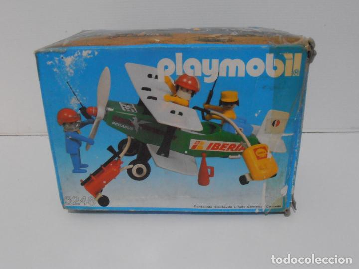 Playmobil: AVIONETA, FAMOBIL, REF 3246, CAJA ORIGINAL, COMPLETO SOLO FALTA PAÑOLETA CUELLO - Foto 8 - 215812996
