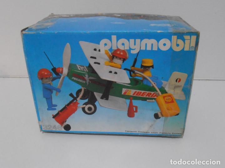 Playmobil: AVIONETA, FAMOBIL, REF 3246, CAJA ORIGINAL, COMPLETO SOLO FALTA PAÑOLETA CUELLO - Foto 14 - 215812996