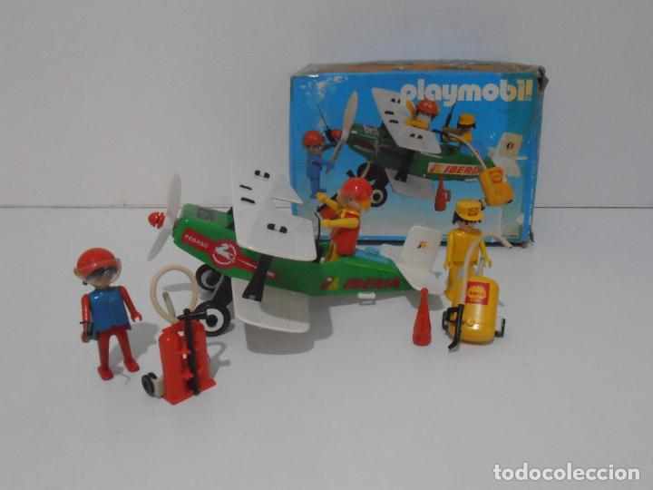 AVIONETA, FAMOBIL, REF 3246, CAJA ORIGINAL, COMPLETO SOLO FALTA PAÑOLETA CUELLO (Juguetes - Playmobil)