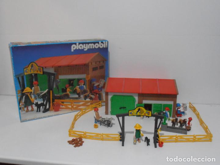 GRANJA DE PONNIES, PLAYMOBIL, REF 3436, CAJA ORIGINAL, COMPLETO (Juguetes - Playmobil)
