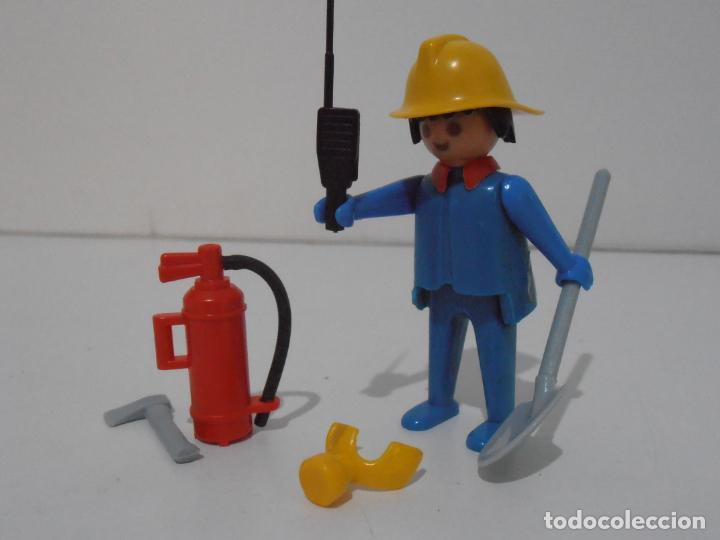Playmobil: BOMBERO, PLAYMOBIL, REF 3339, CAJA ORIGINAL, COMPLETO - Foto 2 - 215816325