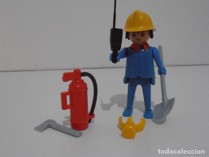 Playmobil: BOMBERO, PLAYMOBIL, REF 3339, CAJA ORIGINAL, COMPLETO - Foto 4 - 215816325