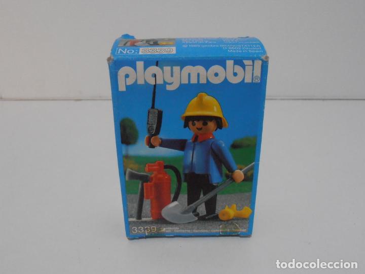 Playmobil: BOMBERO, PLAYMOBIL, REF 3339, CAJA ORIGINAL, COMPLETO - Foto 5 - 215816325