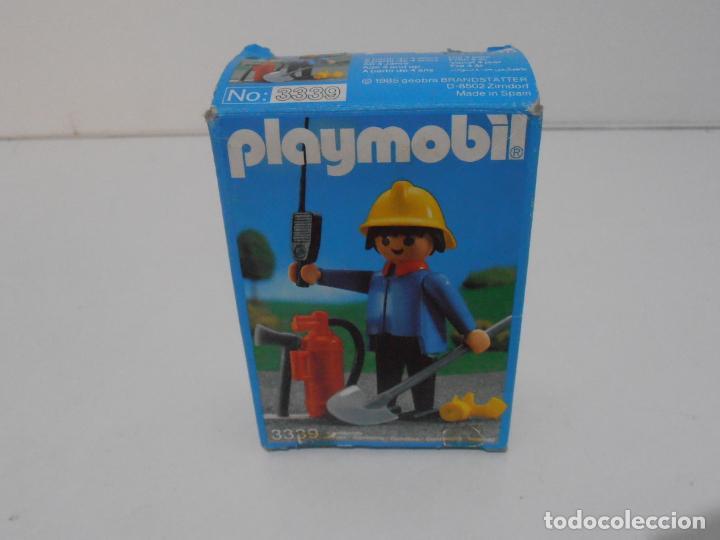 Playmobil: BOMBERO, PLAYMOBIL, REF 3339, CAJA ORIGINAL, COMPLETO - Foto 10 - 215816325