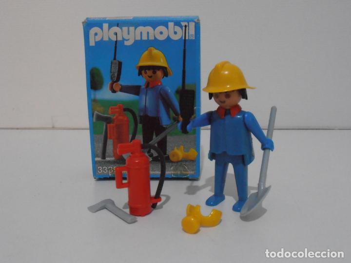BOMBERO, PLAYMOBIL, REF 3339, CAJA ORIGINAL, COMPLETO (Juguetes - Playmobil)