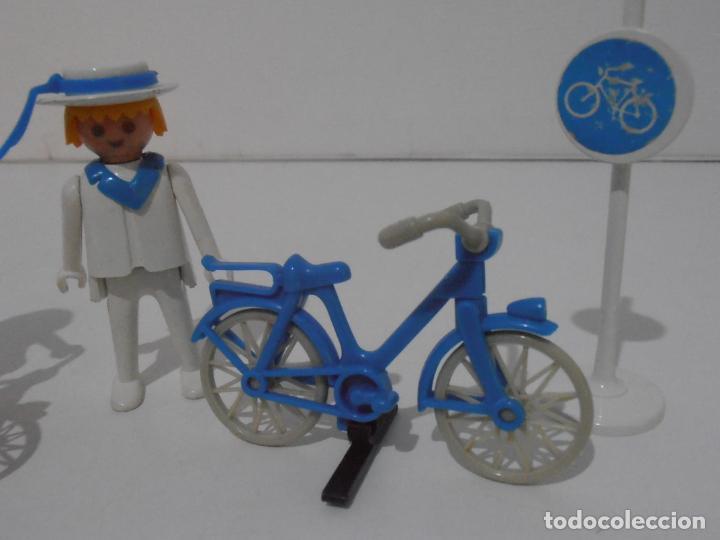 Playmobil: PAREJA DE CICLISTAS, REF. 3573, FAMOBIL, COMPLETO SIN CAJA - Foto 2 - 215817162