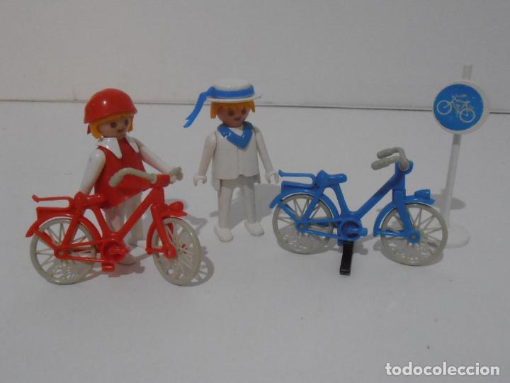 Playmobil: PAREJA DE CICLISTAS, REF. 3573, FAMOBIL, COMPLETO SIN CAJA - Foto 4 - 215817162