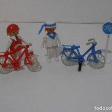 Playmobil: PAREJA DE CICLISTAS, REF. 3573, FAMOBIL, COMPLETO SIN CAJA. Lote 215817162