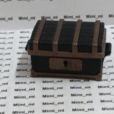 Playmobil: PLAYMOBIL COFRE NEGRO BARCO PIRATA BAÚL ARCÓN MEDIEVAL. Lote 216830137