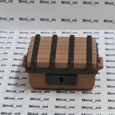 Playmobil: PLAYMOBIL COFRE MARRÓN BARCO PIRATA BAÚL ARCÓN MEDIEVAL. Lote 216830138