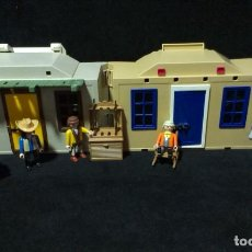 Playmobil: PLAYMOBIL WESTERN 4398. COMISARIA Y BANCO. Lote 217576958