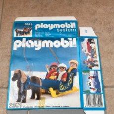 Playmobil: PLAYMOBIL CAJA VACIA REFERENCIA 3391 SYSTEM 1984 GEOBRA. Lote 218237308