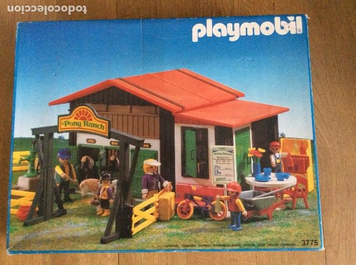 PLAYMOBIL 3775 PONY RANCH CAJA E INSTRUCCIONES (Juguetes - Playmobil)