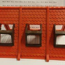 Playmobil: PLAYMOBIL TEJADO ROJO ESTACIÓN TREN VICTORIANO 4300 GRANJA MEDIEVAL CASA CIUDAD PRIMERA ÉPOCA. Lote 218395860