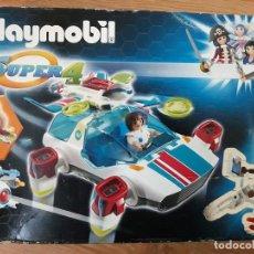Playmobil: PLAYMOBIL SUPER4 9002 FULGURIX CON AGENTE GENE CAJA COMPLETO. Lote 219091361