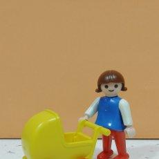 Playmobil: PLAYMOBIL.. REF - 3357..GEOBRA 1981.. NIÑA CARRITO BEBE... Lote 219255560
