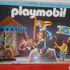 Playmobil: CAMPAMENTO TORNEO MEDIEVAL REF.3654.PLAYMOBIL 1993.NUEVO EN CAJA SIN ABRIR.. Lote 219322582