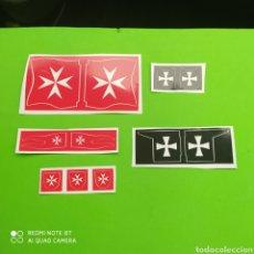 Playmobil: PLAYMOBIL PEGATINAS BANDERAS PECHERAS ETC...... Lote 220904246