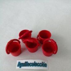 Playmobil: PLAYMOBIL LOTE 5 CUBOS CALDEROS. Lote 221881853