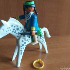Playmobil: PLAYMOBIL CABALLO Y FIGURA INDIA. Lote 222223582